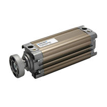 Pneumatic cylinder / single-acting / tandem / compact
