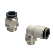Push-in fitting / straight / pneumatic / plastic