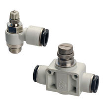 Push-in fitting / pneumatic / plastic / brass