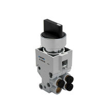 Poppet valve / manual / 3/2-way control / 5/2-way