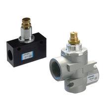 Push-to-lock fitting / pneumatic / T / metal