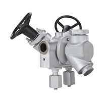 Piston valve / with handwheel / purge / for steam