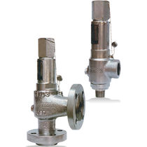 Poppet pressure relief valve / for gas / thermal