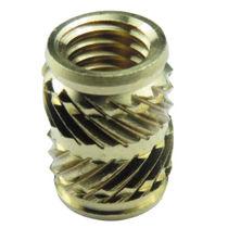 Threaded insert / brass / round / for plastics