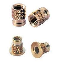 Threaded insert / brass / stainless steel / aluminum