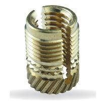 Press-in insert / expanding / brass / round