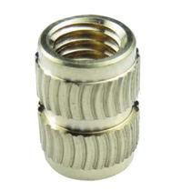 Knurled insert / brass / stainless steel / aluminum