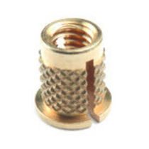 Expanding insert / brass / stainless steel / round