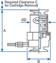 Cartridge filter housing / for liquids / stainless steel / high-flow