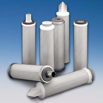 Water filter cartridge / fine / fiberglass / pleated