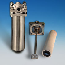 Cartridge filter housing / liquid / stainless steel