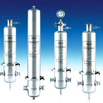 Gas filter housing / air / stainless steel / sanitary