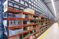 Picking shelving / for empty and full cartons / adjustable