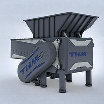 Single-shaft shredder / wood / metal / for household waste