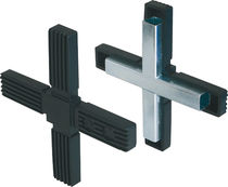 Cross tube connector / square / polyamide