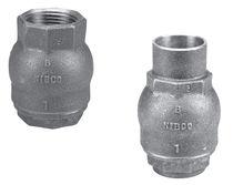 Disc check valve / threaded / in-line / spring