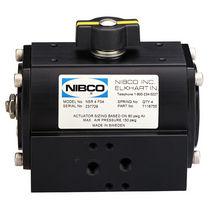 Quarter-turn valve actuator / pneumatic / double-acting / rack-and-pinion