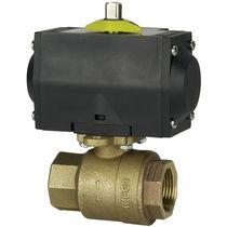 Ball valve / pneumatically-actuated / shut-off / bronze
