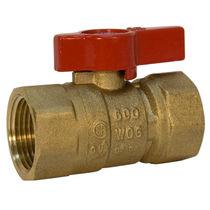 Ball valve / for gas / lever / shut-off