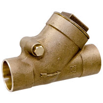 Swing check valve / horizontal / Y