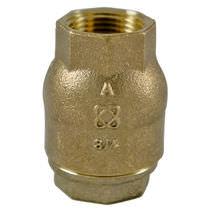 Spring check valve / threaded / in-line