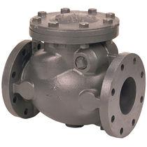 Swing check valve / cast iron / horizontal / flange