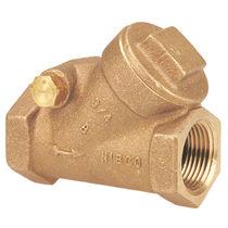 Swing check valve / bronze / horizontal / threaded
