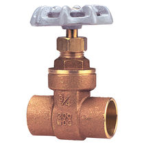 Gate valve / for water / manual / shut-off