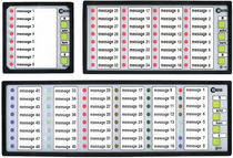 Panel-mounted fault annunciator