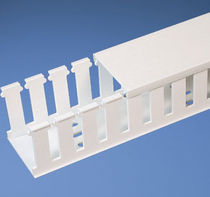 Cable trunking / plastic / grooved / halogen-free