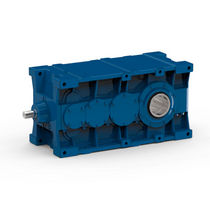 Bevel gear reducer / helical / orthogonal / industrial