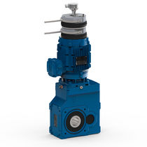 AC electric gearmotor / right-angle / bevel / helical