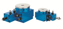 Horizontal rotary table / compact / high-precision / air