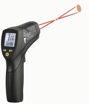 Infrared thermometer / with LCD display / hand-held / with double laser