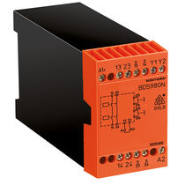 Safety relay / 1 NO / DIN rail / emergency stop