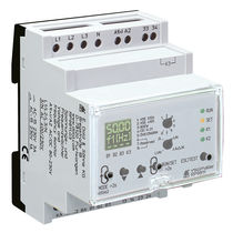 Voltage monitoring relay / frequency / three-phase / DIN rail