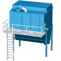 Flat bag dust collector / reverse air cleaning / modular