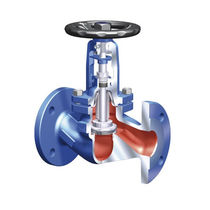 Globe valve / with handwheel / for water / flange