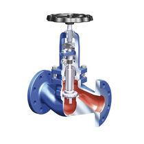 Globe valve / with handwheel / for chemicals / flange