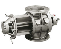 Pneumatic conveying rotary valve / round-flange / hygienic