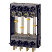 Volumetric flow regulator / for liquids / hydraulic / for injection molding machines