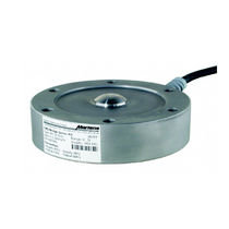 Button type load cell / steel / for tanks / weighing