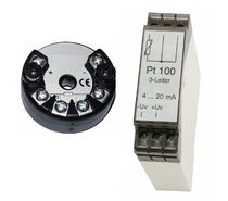 DIN rail mount temperature transmitter / probe head-mounted / Pt100 / 4-wire