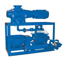 Vacuum unit with dry pump / with piston pump / with booster / liquid ring pump