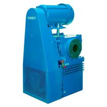 Rotary piston vacuum pump / lubricated / two-stage / industrial