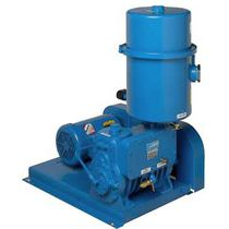 Rotary piston vacuum pump / lubricated / single-stage / air-cooled