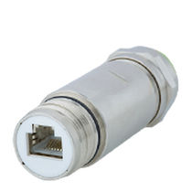 RF connector / RJ45 / straight / female