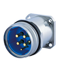 RF connector / DIN / circular / crimp