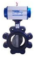 Butterfly valve / pneumatically-operated / for high-viscosity liquids