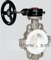 Butterfly valve / manual / stainless steel / for high-viscosity liquids